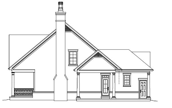 Traditional House Plan 47382 with 3 Beds, 3 Baths Picture 1