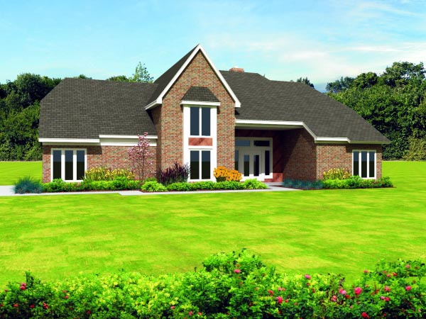 Country House Plan 47461 with 4 Beds, 4 Baths, 2 Car Garage Elevation