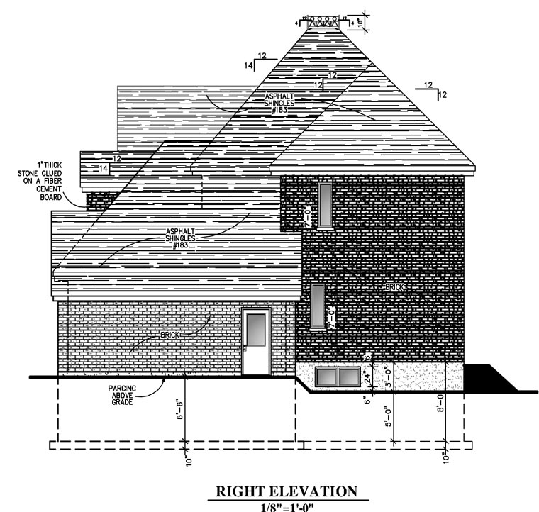 European House Plan 48060 with 3 Beds, 3 Baths, 2 Car Garage Picture 2