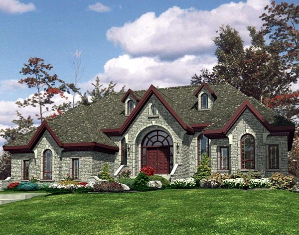 One-Story, Traditional House Plan 48120 with 3 Beds, 2 Baths, 2 Car Garage Elevation