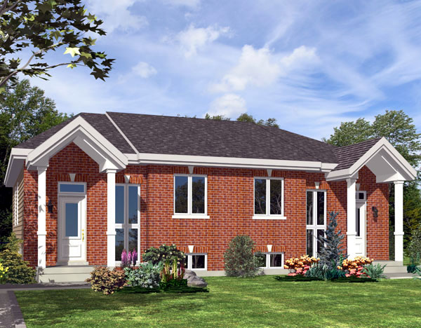 Traditional Multi-Family Plan 48247 with 4 Beds, 2 Baths Front Elevation