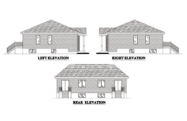 Traditional Multi-Family Plan 48247 with 4 Beds, 2 Baths Picture 1