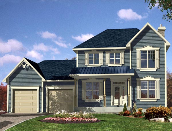 Southern House Plan 48287 with 3 Beds, 3 Baths, 1 Car Garage Front Elevation