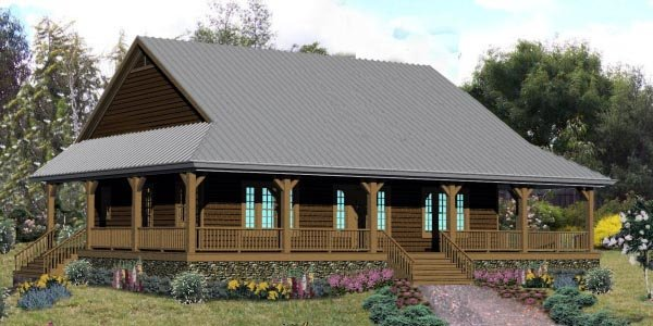 House Plan 48372 with 3 Beds, 3 Baths Elevation