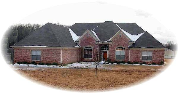 Country, European House Plan 48680 with 5 Beds, 5 Baths, 3 Car Garage Elevation