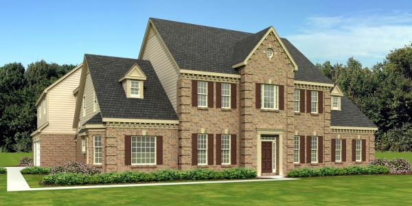 Traditional House Plan 48755 with 5 Beds, 4 Baths, 3 Car Garage Front Elevation