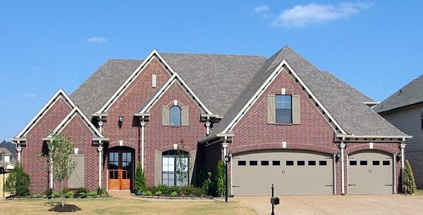 Country, European House Plan 48757 with 4 Beds, 3 Baths, 3 Car Garage Front Elevation