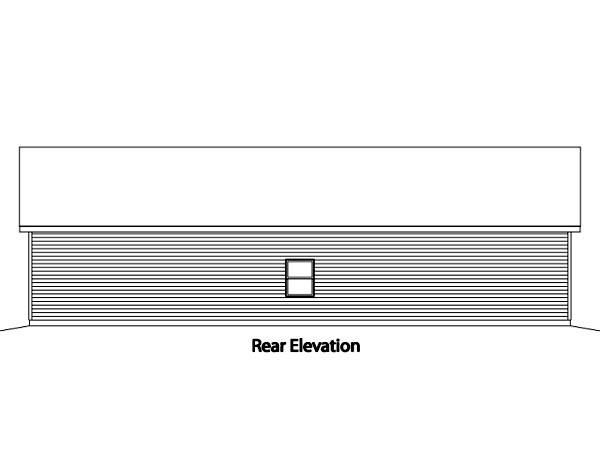 Ranch 4 Car Garage Plan 49011 Rear Elevation