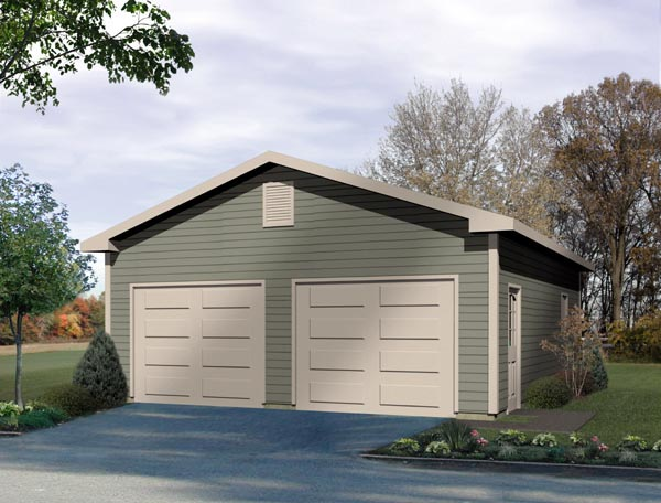 Traditional 2 Car Garage Plan 49013 Front Elevation