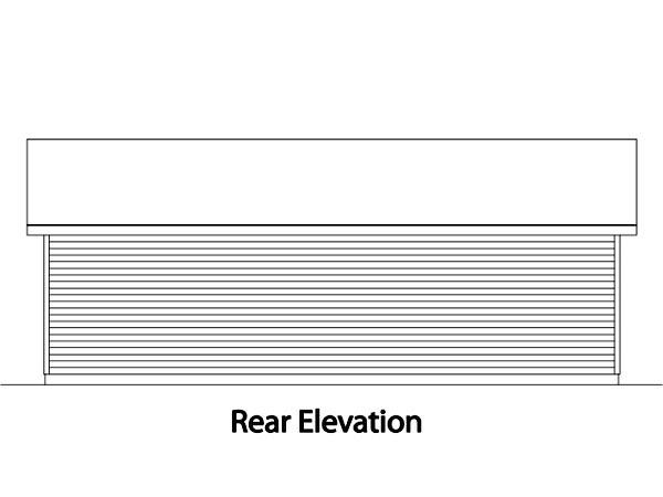 Ranch 3 Car Garage Plan 49016 Rear Elevation