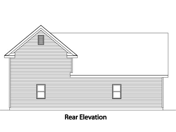 Traditional 3 Car Garage Plan 49031, RV Storage Rear Elevation