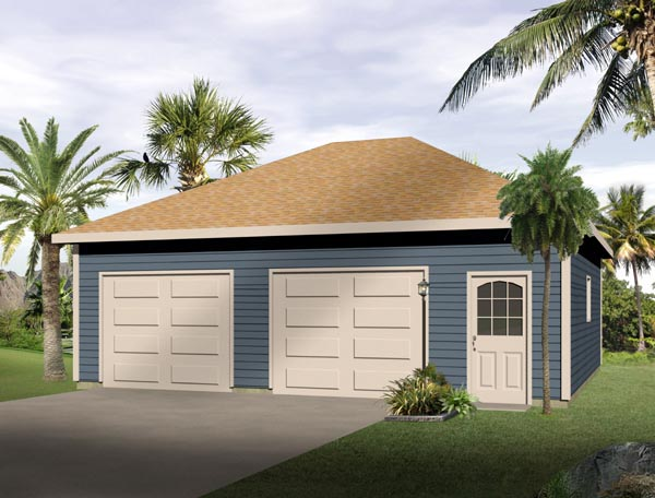 European 2 Car Garage Plan 49039 Elevation