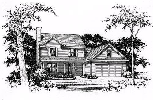 Country, One-Story House Plan 49083 with 4 Beds, 3 Baths, 2 Car Garage Picture 3
