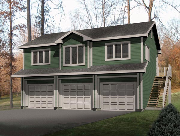Garage-Living Plan 49118