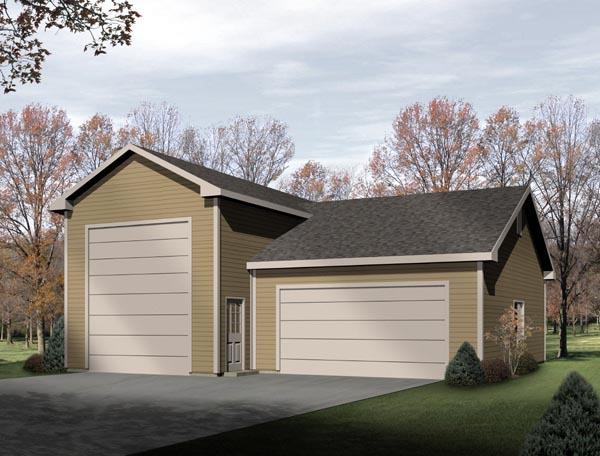 Traditional 3 Car Garage Plan 49129, RV Storage Front Elevation
