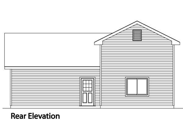 Traditional 3 Car Garage Plan 49129, RV Storage Rear Elevation