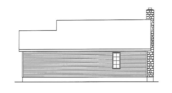 Country House Plan 49151 with 2 Beds, 1 Baths Rear Elevation