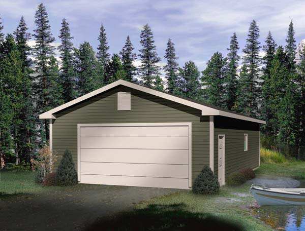 4 Car Garage Plan 49164 Front Elevation