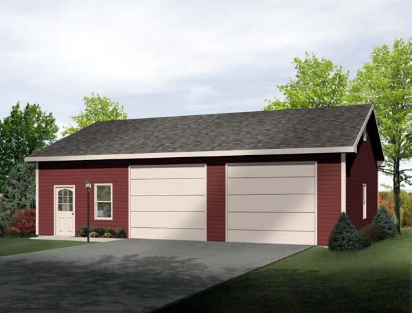 2 Car Garage Plan 49185 Front Elevation