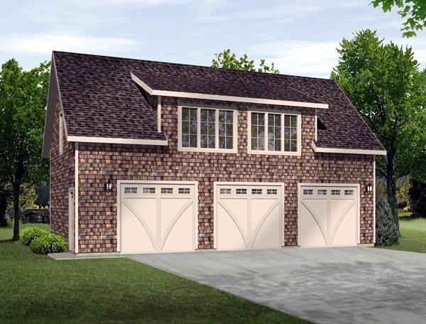 3 Car Garage Plan 49186 Front Elevation