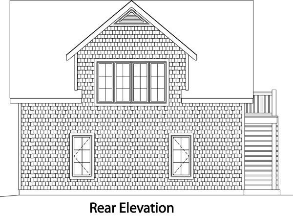 2 Car Garage Plan 49191 Rear Elevation