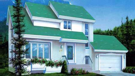 Contemporary, Narrow Lot House Plan 49249 with 2 Beds, 2 Baths, 1 Car Garage Elevation