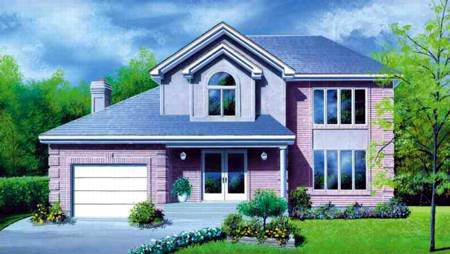 Contemporary House Plan 49254 with 3 Beds, 4 Baths, 1 Car Garage Elevation