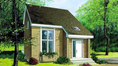 Contemporary, Narrow Lot House Plan 49306 with 2 Beds, 2 Baths Front Elevation