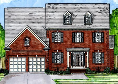 Craftsman House Plan 50194 with 6 Beds, 6 Baths, 2 Car Garage Elevation