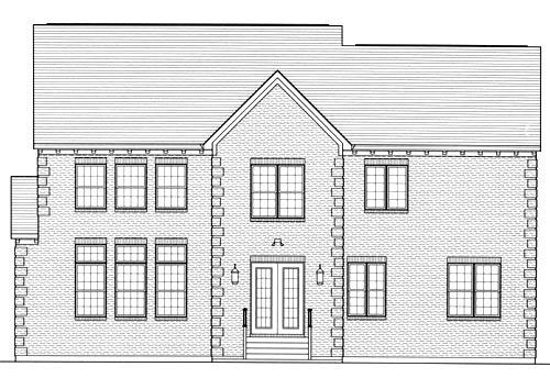 Craftsman House Plan 50194 with 6 Beds, 6 Baths, 2 Car Garage Rear Elevation