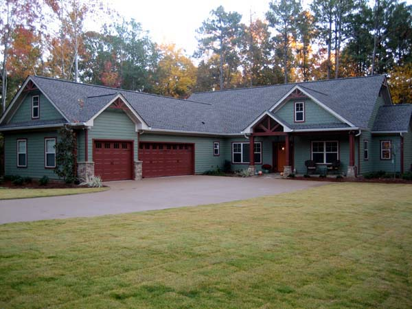 Craftsman House Plan 50223 with 3 Beds, 3 Baths, 3 Car Garage Picture 2
