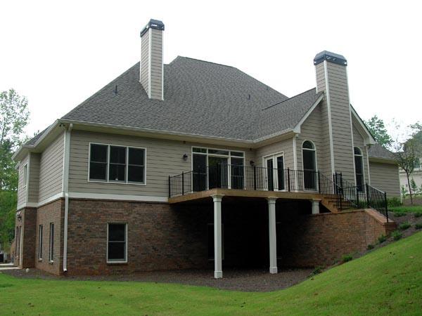 Craftsman House Plan 50233 with 4 Beds, 4 Baths, 3 Car Garage Rear Elevation