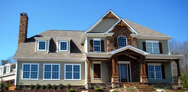 Craftsman House Plan 50247 with 4 Beds, 4 Baths, 3 Car Garage Front Elevation