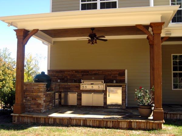 Craftsman House Plan 50247 with 4 Beds, 4 Baths, 3 Car Garage Rear Elevation