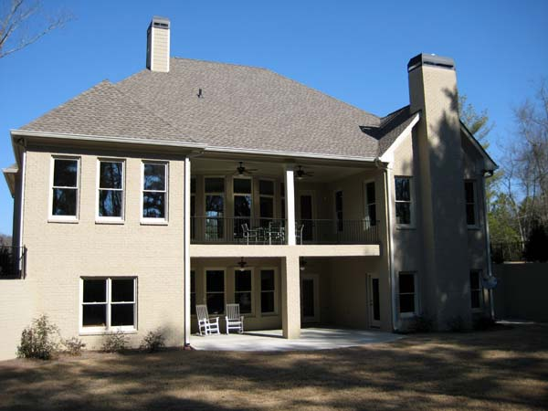 Ranch House Plan 50249 with 4 Beds, 4 Baths, 3 Car Garage Rear Elevation