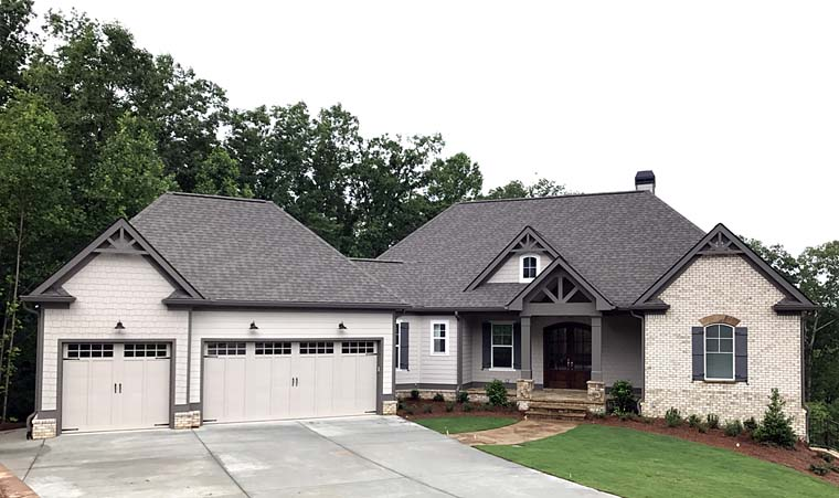 Cottage, Country, Craftsman, Traditional House Plan 50268 with 4 Beds, 4 Baths, 3 Car Garage Elevation