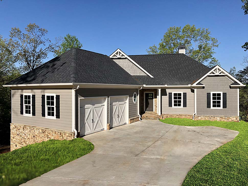 Cottage, Craftsman, Ranch House Plan 50278 with 3 Beds, 4 Baths, 2 Car Garage Elevation