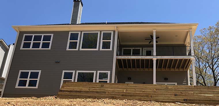 Cottage, Craftsman, Ranch House Plan 50278 with 3 Beds, 4 Baths, 2 Car Garage Rear Elevation