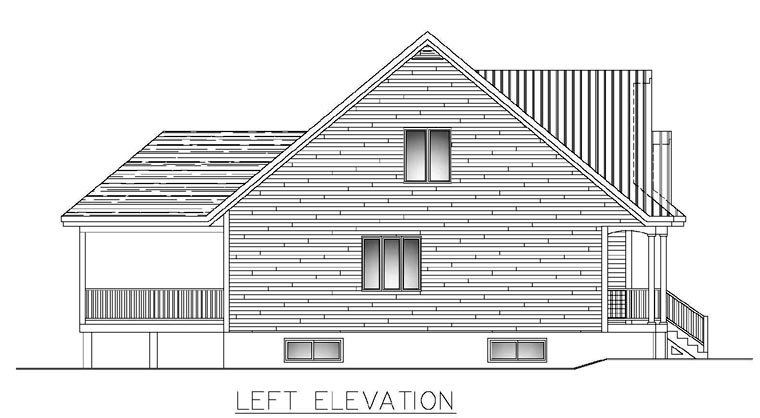 House Plan 50303 with 3 Beds, 3 Baths, 1 Car Garage Picture 1