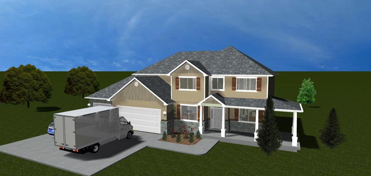 House Plan 50423 with 7 Beds, 4 Baths, 3 Car Garage Picture 11
