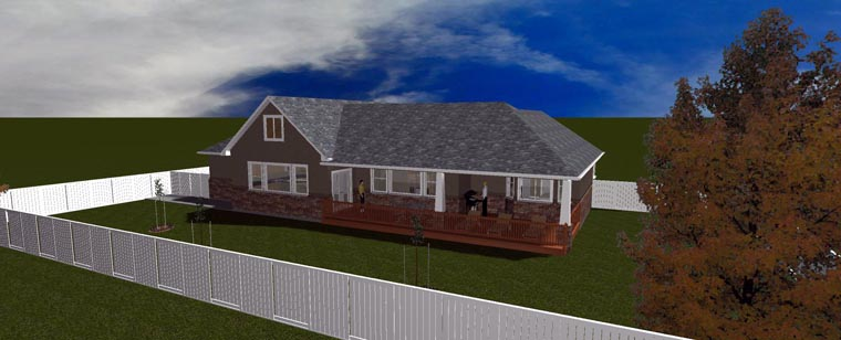 House Plan 50438 with 5 Beds, 3 Baths, 3 Car Garage Picture 12