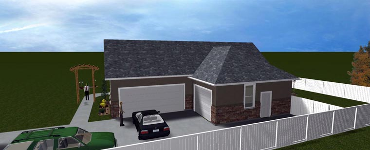 House Plan 50438 with 5 Beds, 3 Baths, 3 Car Garage Picture 14