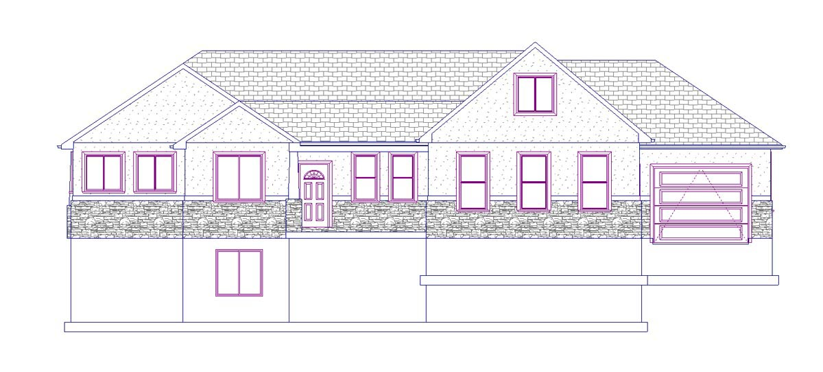 House Plan 50438 with 5 Beds, 3 Baths, 3 Car Garage Picture 3