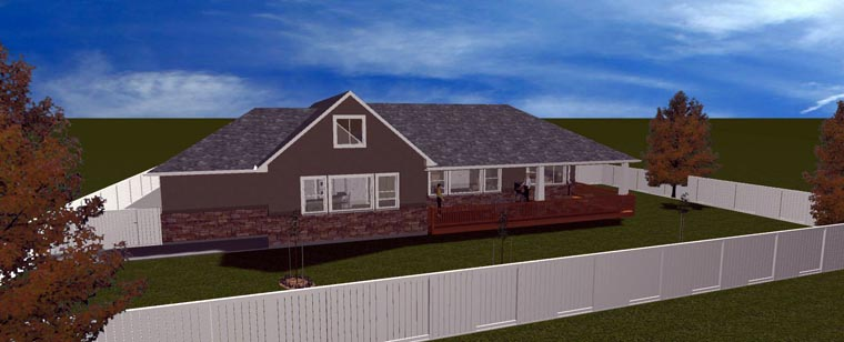 House Plan 50438 with 5 Beds, 3 Baths, 3 Car Garage Picture 7