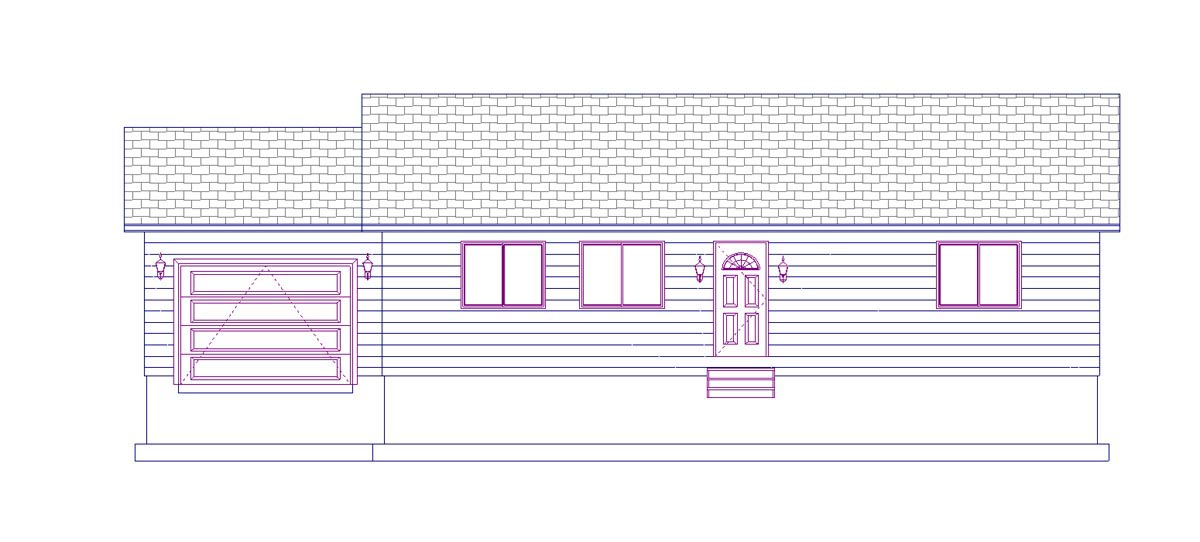 House Plan 50439 with 2 Beds, 1 Baths, 1 Car Garage Picture 3