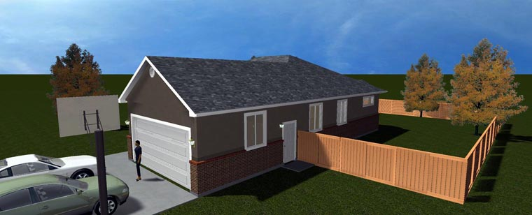 House Plan 50442 with 5 Beds, 3 Baths, 2 Car Garage Picture 12