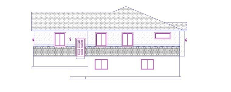 House Plan 50442 with 5 Beds, 3 Baths, 2 Car Garage Picture 2