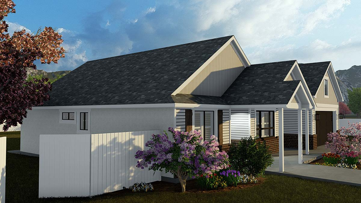 Ranch, Traditional House Plan 50529 with 4 Beds, 3 Baths, 2 Car Garage Picture 2
