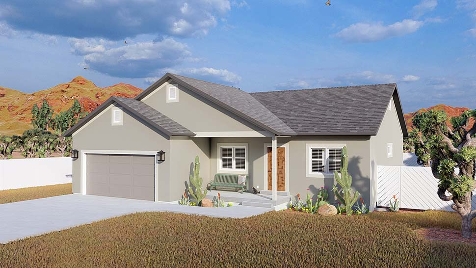 Ranch, Traditional House Plan 50534 with 5 Beds, 3 Baths, 2 Car Garage Picture 3