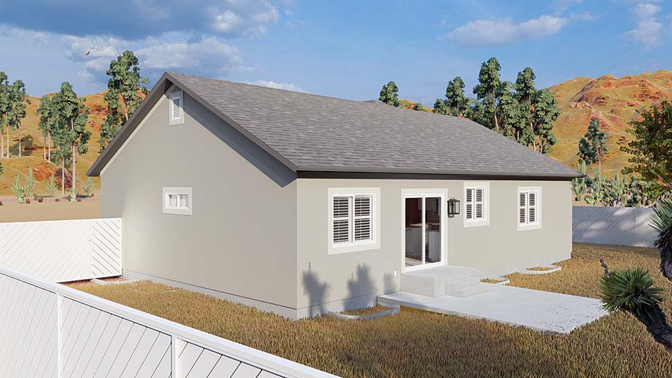 Ranch, Traditional House Plan 50534 with 5 Beds, 3 Baths, 2 Car Garage Picture 4